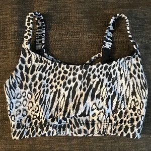 Onzie Sun Ray black & white leopard sports bra